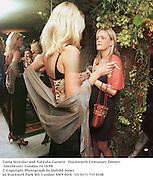 Tania Strecker and Natasha Garnett.  Duckworth Centenary Dinner. Dorchester, London 14/10/98<br />© Copyright Photograph by Dafydd Jones<br />66 Stockwell Park Rd. London SW9 0DA<br />Tel 0171 733 0108