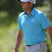 Sergio Garcia, Spain, in action during the third round of the Travelers Championship at the TPC River Highlands, Cromwell, Connecticut, USA. 21st June 2014. Photo Tim Clayton