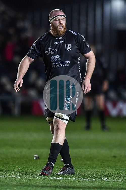 Matthew Screech of Dragons <br /> <br /> Photographer Craig Thomas/Replay Images<br /> <br /> Guinness PRO14 Round 7 - Dragons v Zebre - Saturday 30th November 2019 - Rodney Parade - Newport<br /> <br /> World Copyright © Replay Images . All rights reserved. info@replayimages.co.uk - http://replayimages.co.uk