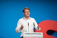 DEU, Deutschland, Germany, Berlin, 02.06.2018: Landesparteitag der Berliner SPD im Hotel Andels. Rede von Dr. Julian Zado, neu gewählter stellvertretender Landesvorsitzender.