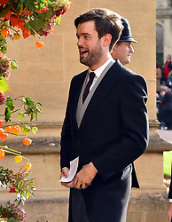 Jack Whitehall arrives for the wedding of Princess Eugenie to Jack Brooksbank at St George's Chapel in Windsor Castle