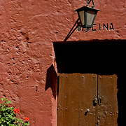 """Monasterio Santa Catalina in the """"White City"""" of Arequipa, Peru."""