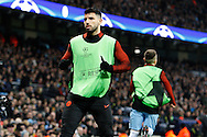 Sergio Aguero (10) during the Champions League match between Manchester City and Celtic at the Etihad Stadium, Manchester, England on 6 December 2016. Photo by Craig Galloway.