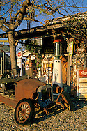 Old gas station, Santa Ynez, Santa Barbara County, California