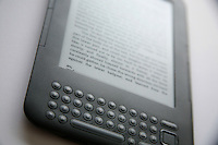 Reading a book on a Kindle device