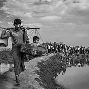 Since the end of august 2017, the beginning of the crisis, more than 600,000 Rohingyas have fled Myanmar to seek refuge in Bangladesh. Cox's Bazar - november the 2nd 2017.<br /> Depuis le début de la crise, fin août 2017, plus de 600000 Rohingyas ont fuit la Birmanie pour trouver refuge au Bangladesh. Cox's Bazar le 02 novembre 2017.