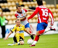 Fotball , <br /> Tippeligaen Eliteserien , <br /> 06.07.08 , <br /> Åråsen stadion , <br /> Lillestrøm SK - FC Lyn Oslo , <br /> Bjørn Helge Riise spilte sin første kamp etter skaden , <br /> Foto: Thomas Andersen / Digitalsport
