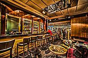 Digitally Enhanced interior of a bar