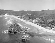 Y-580704-10.  Cannon Beach aerial view July 4, 1958