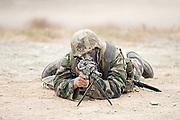 US Marine with SAW M249 Machine gun.