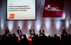 14.09.2013, Zagreb, CRO, CSC Podiumsdiskussion, im Bild Luis Figo // during a panel discussion in Zagreb, Croatia on 2013/09/14. EXPA Pictures © 2013, PhotoCredit: EXPA/ Pixsell/ Daniel Kasap<br /> <br /> ***** ATTENTION - for AUT, SLO, SUI, ITA, FRA only *****