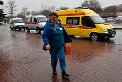 A medical worker arrives at the Rostov-on-Don airport, in Russia, March 19, 2016. A Boeing 737-800 passenger plane from Dubai crashed at the destination airport in southwestern Russia early Saturday, killing all the 62 people on board, authorities said. EXPA Pictures © 2016, PhotoCredit: EXPA/ Photoshot/ Sputnik<br /> <br /> *****ATTENTION - for AUT, SLO, CRO, SRB, BIH, MAZ, SUI only*****