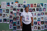 in Reynosa, Tamaulipas, the caravan of central american mothers arrives to the border with the United States, where they throw flowers into the Bravo River. Tamaulipas is one of the most dangerous places for mexican and central american migrants due to the presence of criminal groups. .Pictured: Aidée Luque Lazo, mother of José Elias Guevara Luque, from Progreso, honduras. She lost contact with her son in 2001, when he was in Matamoros..(Photo: Prometeo Lucero)