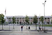 The Opera in Skanderbeg Square.  Skanderbeg Square, Tirana, Albania. 02Sep15
