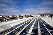 82 Kilowatt Solar Array on roof of Big Blue Bus Terminal, Installation by Martifer Solar USA, Santa Monica, California, USA