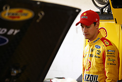 November 16, 2018 - Homestead, Florida, U.S. - Joey Logano (22) hangs out in the garage prior to practice for the Ford 400 at Homestead-Miami Speedway in Homestead, Florida. (Credit Image: © Justin R. Noe Asp Inc/ASP)
