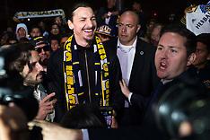 LA Galaxy players at LAX - 29 March 2018