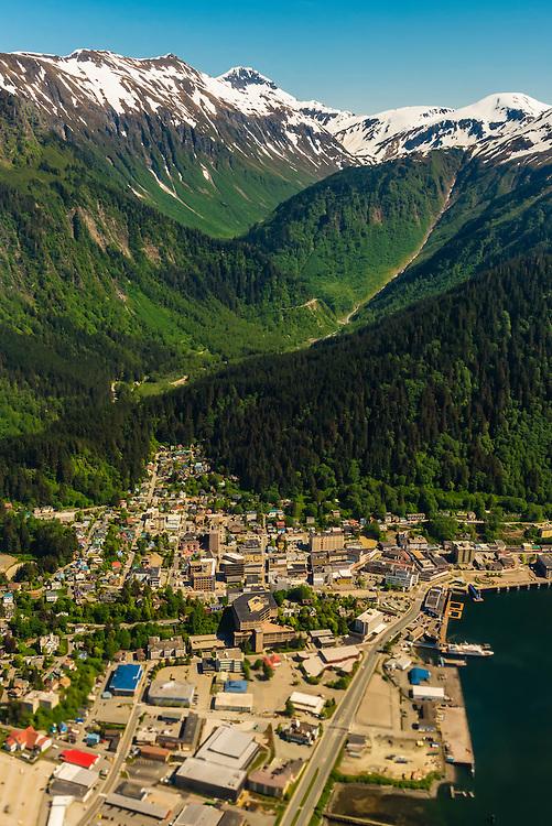 Aerial view, Juneau, Alaska USA.