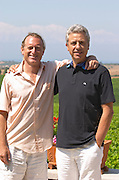Evangelos Gerovassiliou, owner. David Furer, wine writer. Domaine Gerovassiliou, Epanomi, Macedonia, Greece.