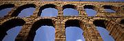 SPAIN, CASTILE, SEGOVIA Roman aqueduct built by Trajan 1stC.AD