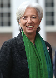Managing Director of the IMF, Christine Lagarde arrives at an event hosted by the Institute of International and European Affairs at St Patrick's Hall, Dublin Castle.
