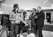 09/08/1967<br /> 08/09/1967<br /> 09 August 1967<br /> Opening of Esso service station at Dean's Grange, Dublin. The site was originally a sculptures yard was a 2-bay service station with the latest equipment. It was to be a 24 hours station and a 5-minute Car Wash and Electronic Tuning was available. Mr. P.J. Burke, T.D., Chairman, Dublin County Council, who opened the station, gets his car filled by the Esso attendants. On right is Mr. F.E. Morton, Branch Manager North, Esso.