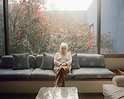"""Diana Kennedy, an authority on Mexican cuisine who has spent the better part of six decades researching, recording and cooking with traditional Mexican recipes and ingredients throughout the country, poses for a portrait at her friend, Concha Lupe Garza's home in Monterrey, Mexico on Thursday, May 2, 2019. Of her extensive work over the years Kennedy says, """"I'm just out to record what I see before it disappears."""""""