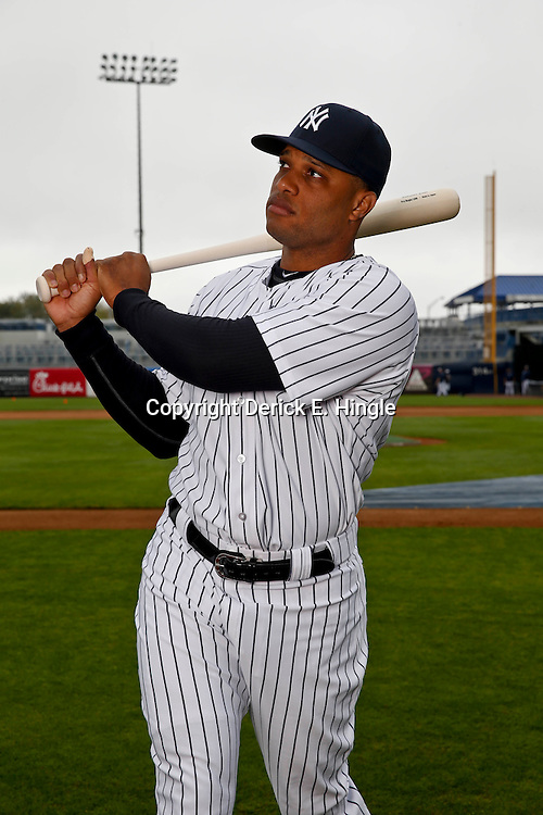 Feb 20, 2013; Tampa, FL, USA; New York Yankees second baseman Robinson Cano (24) during photo day at Steinbrenner Field. Mandatory Credit: Derick E. Hingle-USA TODAY Sports