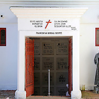 USA, California, Oceanside. Franciscan Burial Crypts of Old Mission San Luis Rey de Francia.
