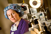 Sandra (Sandy) Powell.operating room nurse in OR at Davis Ambulatory Clinic.photographed for the clinical ladder brochure