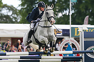 Zebedee De Foja ridden by Olivia Wilmot in the Equi-Trek CCI-4* Show Jumping during the Bramham International Horse Trials 2019 at Bramham Park, Bramham, United Kingdom on 9 June 2019.
