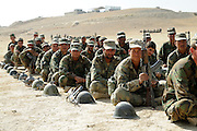 Afghan National Army soldiers in training at the Kabul Military Training Center (KMTC).  As of November 2008 the ANA was 68,000 soldiers strong and projected to reach 134,000 by 2012.  CSTC-A and the Kabul Military Training Institute continue to churn out a 1,200 battalion of soldiers every two weeks.