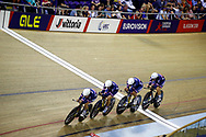Women Team Pursuit, France, during the Track Cycling European Championships Glasgow 2018, at Sir Chris Hoy Velodrome, in Glasgow, Great Britain, Day 1, on August 2, 2018 - Photo Luca Bettini / BettiniPhoto / ProSportsImages / DPPI - Belgium out, Spain out, Italy out, Netherlands out -