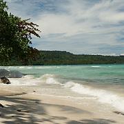 Beautiful white sandy beach in West-Papua.