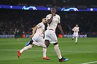 Football - 2018 / 2019 UEFA Champions League - Round of Sixteen, Second Leg: Paris Saint-Germain (2) vs. Manchester United (0)<br /> <br /> Romalu Lukaku of Manchester United celebrates scoring his team's opening goal, at Parc des Princes, Paris.<br /> <br /> COLORSPORT/IAN MACNICOL