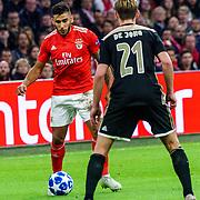 NLD/Amsterdam/20181023 - Champions Leaguewedstrijd  Ajax - SL Benfica, nr. 18 Eduardo Salvio