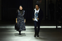 Carol Lim and Humberto Leon walk the runway during the Kenzo Menswear Fall/Winter 2017-2018 show as part of Paris Fashion Week on January 22, 2017 in Paris, France. Photo by Laurent Zabulon/ABACAPRESS.COM