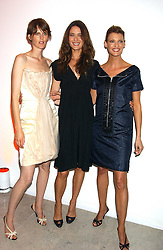 Left to right, models STELLA TENNANT, SHALOM HARLOW and LINDA EVANGELISTA at a cocktail party hosted by MAC cosmetics to kick off London Fashion Week at The Hospital, 22 Endell Street London on 18th September 2005.At the event, top model Linda Evangelista presented Ken Livingston the Lord Mayor of London with a cheque for £100,000 in aid of the Loomba Trust that aims to privide education to orphaned children through a natural disaster or through HIV/AIDS.<br /><br />NON EXCLUSIVE - WORLD RIGHTS