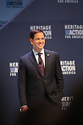 Senator and GOP presidential candidate Marco Rubio speaks at the Heritage Foundation Take Back America candidate forum September 18, 2015 in Greenville, South Carolina. The event features 11 presidential candidates but Trump unexpectedly cancelled at the last minute.
