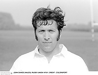 JOHN DAWES (WALES). RUGBY UNION 1971 British Lions Captain for the New Zealand Tour. CREDIT : COLORSPORT