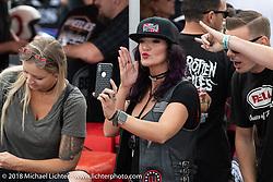 Spectators at the RSD Moto Beach Classic. Huntington Beach, CA, USA. Sunday October 28, 2018. Photography ©2018 Michael Lichter.
