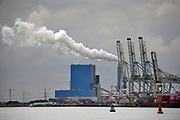 Nederland, Rotterdam, 10-2-2020 Maasvlakte. De kolengestookte elektriciteitscentrale van Riverstone, voorheen Engie, voorheen GDF-Suez, gdf, suez, gdfsuez. Kolencentrale in de rotterdamse haven . . Foto: ANP/ Hollandse Hoogte/ Flip Franssen