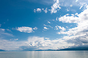 View of Flathead Lake with clouds