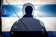 20141122/ Javier Calvelo - adhocFOTOS/ URUGUAY/ MONTEVIDEO/ Campaña Electoral rumbo al Balotaje - Barrio Colon/ La fórmula  del Partido Nacional formada por Luis L.P. y Jorge Larrañaga, en un acto en el barrio Colon en Garzón y Carve el ultimo en la Ciudad de Montevideo de cara a las elecciones de segunda vuelta.  <br /> En la foto: Jorge Larrañaga en un acto durante la campaña electoral en 2014 en el barrio Colon de Montevideo. Foto: Javier Calvelo / adhocFOTOS