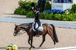 KIM Dong-Seon (KOR), Bukowski<br /> Tryon - FEI World Equestrian Games™ 2018<br /> Grand Prix de Dressage Teamwertung und Einzelqualifikation<br /> 12. September 2018<br /> © www.sportfotos-lafrentz.de/Stefan Lafrentz