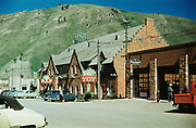 CS00781-06. Wort Hotel, Silver Dollar Bar, Alpine Cafe, Glenwood & Broadway, Jackson, Wyoming. Summer 1950. This is the year the Silver Dollar Bar was built.