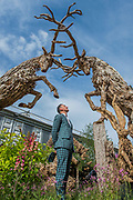 James Doran-Webb driftwood sculptures - The Chelsea Flower Show organised by the Royal Horticultural Society with M&G as its main sponsor for the final year.
