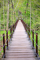 Suspension footbridge over the Patapsco River, Maryland USA