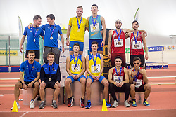 Relay team winners during day 2 of Slovenian Athletics Indoor Championships 2020, on February 23, 2020 in Novo mesto, Slovenia. Photo by Peter Kastelic / Sportida