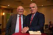 NO FEE PICTURES<br /> 20/1/16  Noel Whelan with Senator Gerard Craughwell, Kilkenny at the launch of his book, The Tallyman's Campaign Handbook at the Alexander Hotel in Dublin. Picture: Arthur Carron